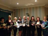 2013 Lady Trophy Winners - Jenny Cordon, Dorothie Cowburn, Lisa Davies, Jo Peacock, Sheila Woolley, Gill Armstrong, Joy Briggs, Karen Wilshaw and Janet Gilbert.