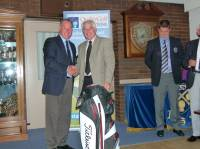 Captain presenting Ken Ratcliffe with the overall winners prize. Congratulations Ken.